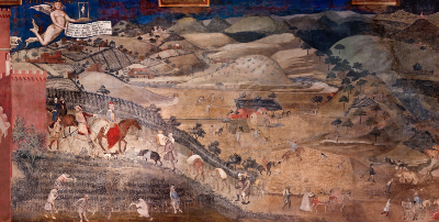 Lorenzetti countryside - refugees lecture